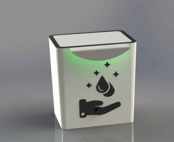 تولید و ساخت دستگاه اتوماتیک اسپری پاش مایعات ضدعفونی